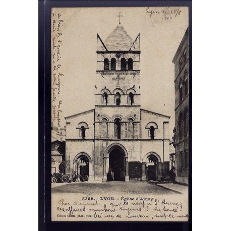 Carte postale 69 - Lyon - Eglise d' Ainay - Voyage - Dos non divise