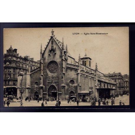 Carte postale 69 - Lyon - eglise Saint-Bonaventure - Non voyage - Dos divise