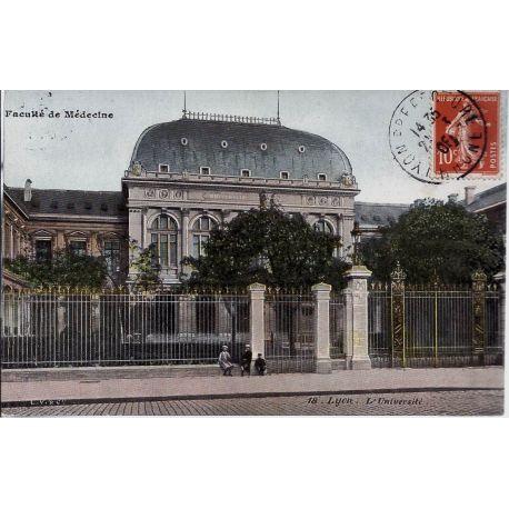 Carte postale 69 - Lyon - Faculte de medecine - L'universite