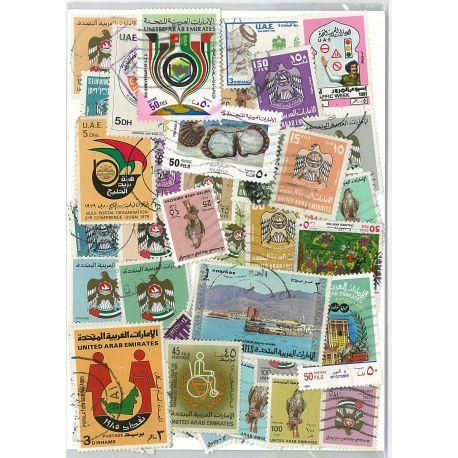 Collection de timbres Emirats Arabes Unis oblitérés