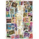 Sammlung gestempelter Briefmarken Ecuador