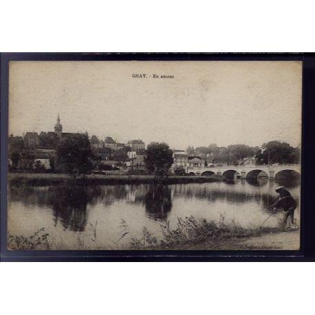Carte postale 70 - Gray - En amont - Voyage - Dos divise