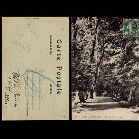 Carte postale 70 - Luxeuil les bains - Allee du Parc