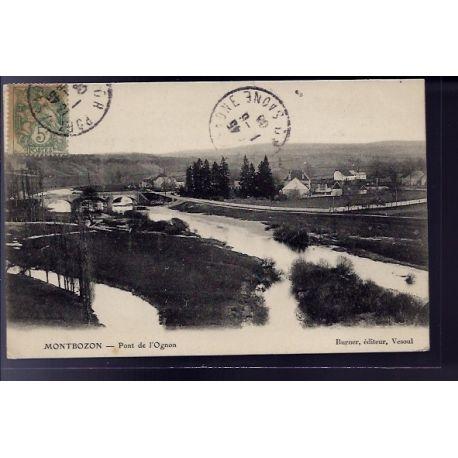 Carte postale 70 - Montbozon - Pont de l' Ognon - Voyage - Dos divise