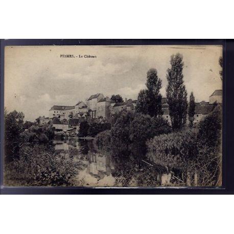 Carte postale 70 - Pesmes - Le chateau - Voyage - Dos divise