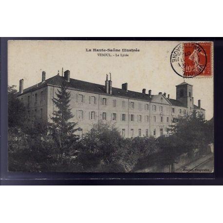 Carte postale 70 - Vesoul - Le lycee - Voyage - Dos divise