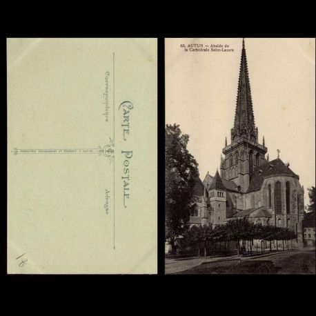 Carte postale 71 - Autun - Abside de la cathedrale Saint Lazare