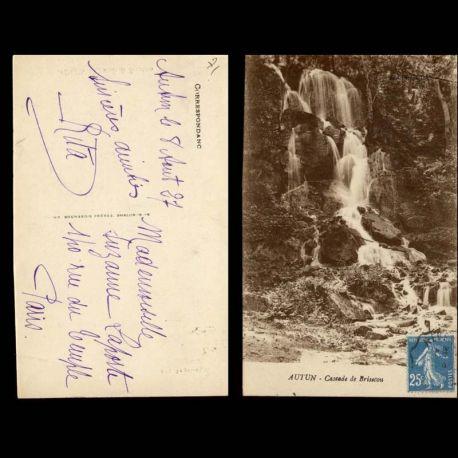 Carte postale 71 - Autun - Cascade de Brisecou - II
