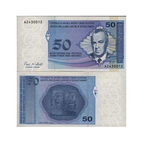 Bosnie - Pk N° 57 - Billet de 50 Dinara