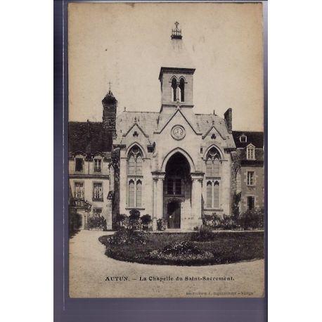 Carte postale 71 - Autun - La chapelle du Saint-Sacrement - Voyage - Dos divise