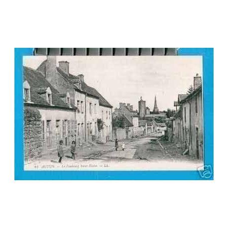 Carte postale 71 - AUTUN - LE FAUBOURG St BLAISE - ANIMEE