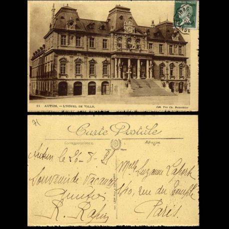 Carte postale 71 - Autun - L'Hotel de ville