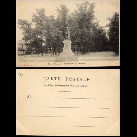 Carte postale 71 - Autun - Promenade des Marbres