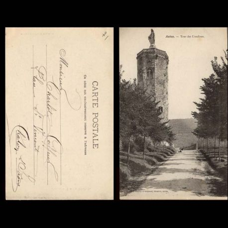 Carte postale 71 - Autun - Tour des Ursulines