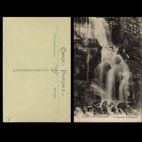 Carte postale 71 - Autun-Pittoresque - La cascade de Brisecou