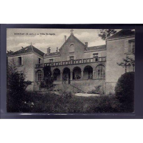 Carte postale 71 - Bonnay - Villa St-Agnes - Voyage - Dos divise