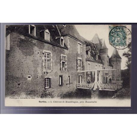 72 - pres Bonnetable - Chateau de Montdragon - Voyage - Dos divise