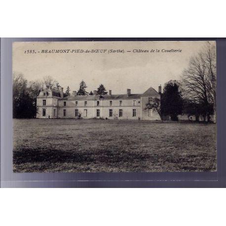 72 - Beaumont-Pied-de-Boeuf - Chateau de la Couetterie - Voyage - Dos divise