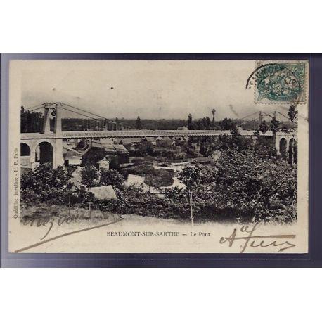 72 - Beaumont-sur-Sarthe - Le Pont - Voyage - Dos non divise