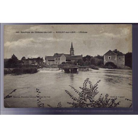 72 - Environs de chateau-du-Loir - Nogent-sur-Loir - L' ecluse - Voyage - Dos