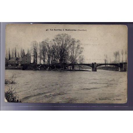 72 - La Sarthe a Malicorne - Non voyage - Dos divise