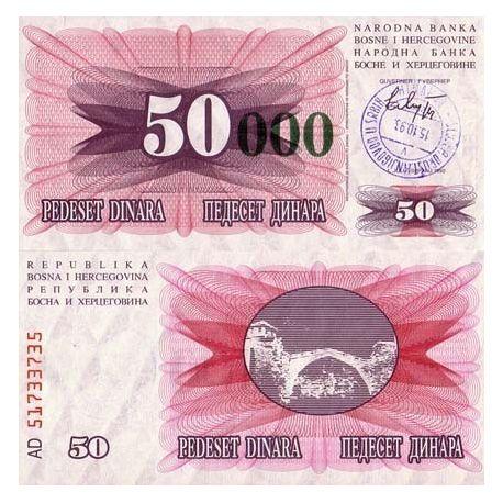 Bosnia - Pk No. 55 - 50 000 Dinara ticket