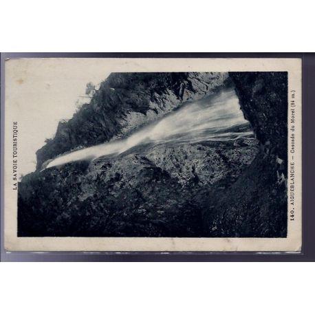 Carte postale 73 - Aigueblanche - cascade du Morel 84 metres - Voyage - Dos divise