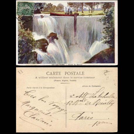 Carte postale 73 - Aix les bains - Chutes du Sierroz