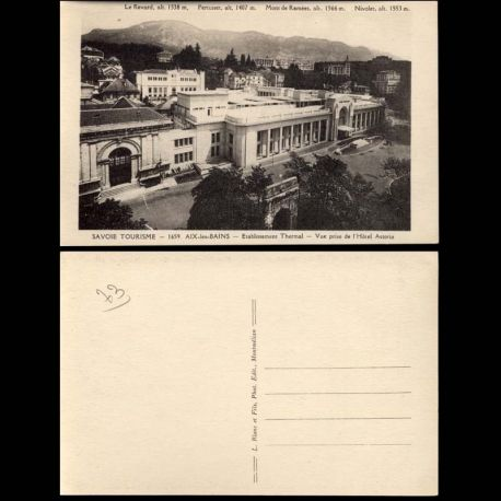 Carte postale 73 - Aix les Bains - Hotel Astoria - Etablissement Thermal