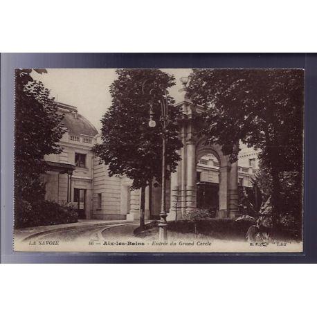 Carte postale 73 - Aix-les-Bains - Entree du Grand Cercle - Non voyage - Dos divise