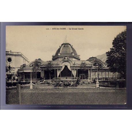 Carte postale 73 - Aix-les-Bains - le Grand Cercle - Non voyage - Dos divise