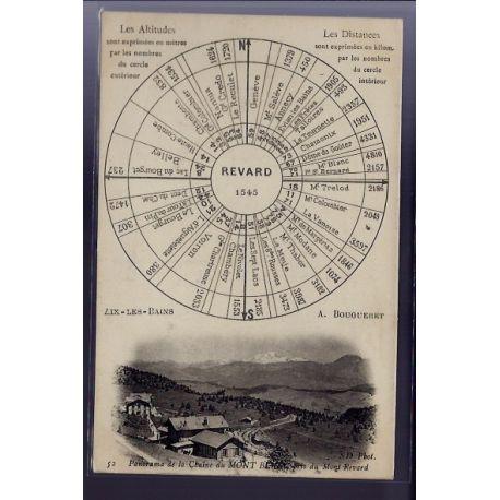 Carte postale 73 - Aix-les-Bains - Panorama de la chaine du Mont Blanc pris du Mont Revard