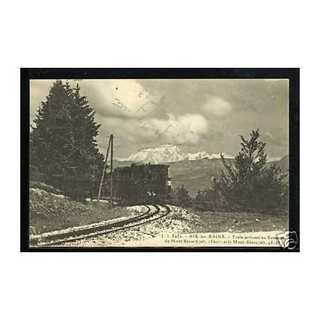 Carte postale 73 - Aix-les-Bains - Train au sommet du Mont Revard