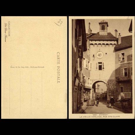 Carte postale 73 - Annecy - Vieille Horloge - Rue Sainte Claire