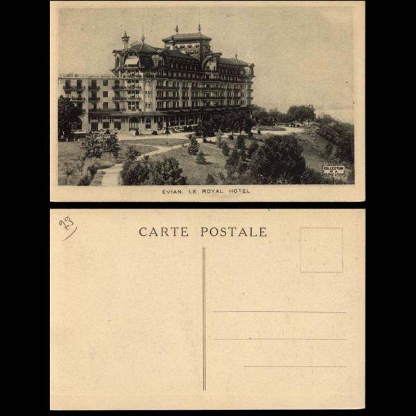 carte postale 73 evian le royal hotel. Black Bedroom Furniture Sets. Home Design Ideas