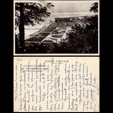 Carte postale 74 - Aix les Bains - La plage - Vue panoramique