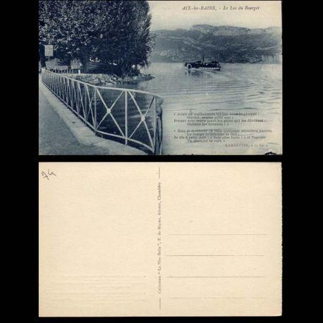 Carte postale 74 - Aix les bains - Le lac du bourget - Bateau