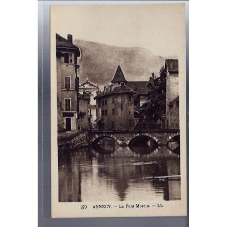 Carte postale 74 - Annecy - Le Pont Morens - Voyage - Dos divise
