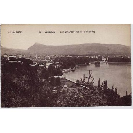Carte postale 74 - Annecy - Vue generale - Non voyage - Dos divise