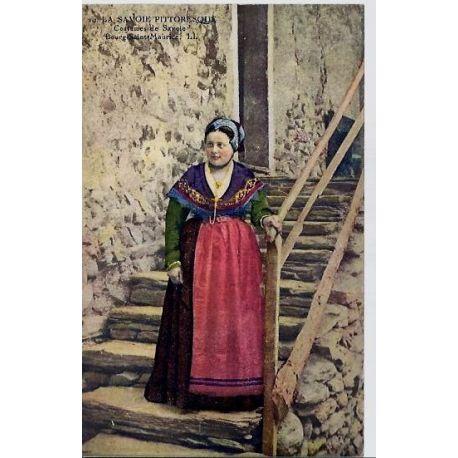Carte postale 74 - Bourg-Saint-Maurice - Costume de Savoie - Non voyage - Dos divise