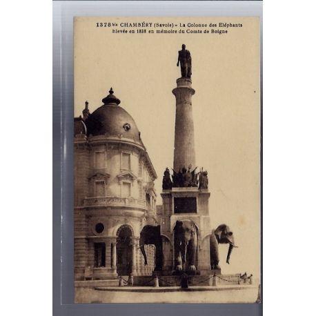 Carte postale 74 - Chambery - La Colonne des elephants elevee en 1838 en memoire du comte d