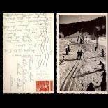 Carte postale 74 - Megeve - Le remonte pente de Rochebrune - CPSM