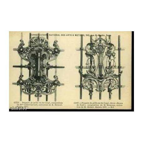 2 poignees de grille en fer forge la maison du collectionneur. Black Bedroom Furniture Sets. Home Design Ideas