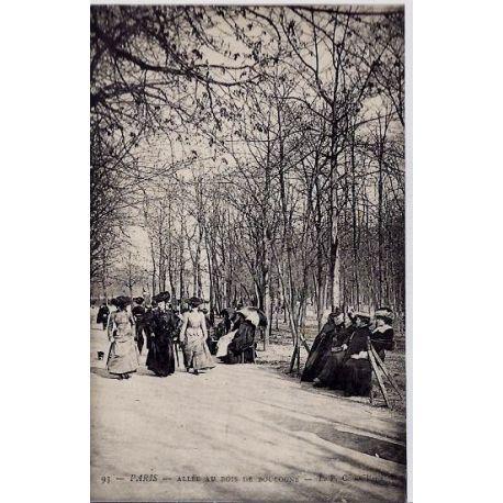 Carte postale 75 - Allee au Bois de Boulogne