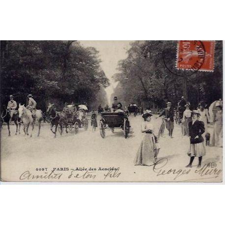Carte postale 75 - Allee des Acacias