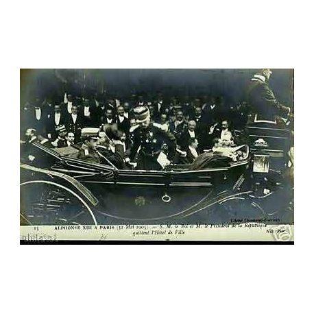 75 - Alphonse XIII a Paris - S.M. le roi et M. le Pdt..