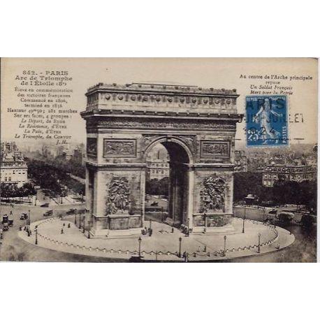Carte postale 75 - Arc de Triomphe de l' Etoile (8e)