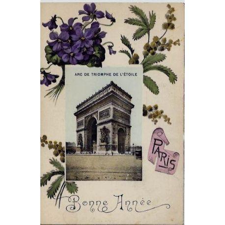 Carte postale 75 - Arc de Triomphe de l'Etoile - Bonne Annee