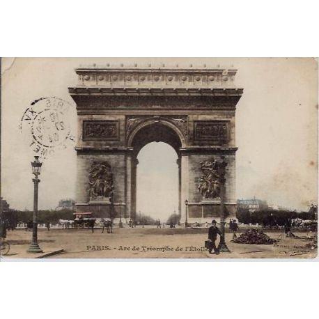 Carte postale 75 - Arc de Triomphe de l'Etoile - Couleur