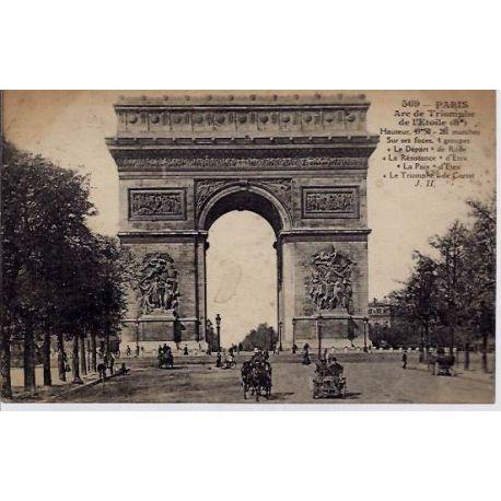 Carte postale 75 - Arc de Triomphe de l'Etoile 8e